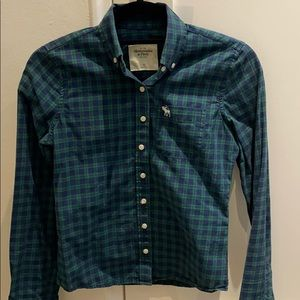Abercrombie plaid button down xs womens